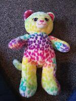 Build A Bear - Rainbow Cat Leopard - Stuffed Animal Toy