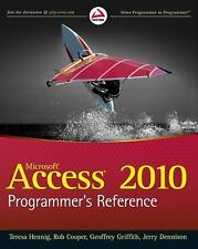 Access 2010 Programmer's Reference, Griffith, Geoffrey L., Dennison, Jerry, Coop