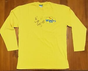 The Wiggles - original Yellow skivvy autographed / signed by Greg Page