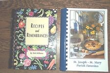 MICHIGAN-2 SPIRAL COOKBOOKS- 1 COMMUNITY FUNDRAISER, ONE LOCAL CHEF-SIGNED