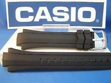 Casio watch band EF-514 Edifice Black Resin Strap.Original Two-Piece Watchband w