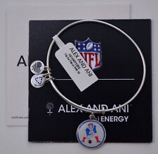 * NEW * N. E. PATRIOTS NFL LICENSED ALEX AND ANI THROWBACK BANGLE SILVER FINISH