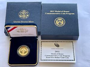2011 GOLD Medal of Honor Commemorative Proof w/ BOX & COA