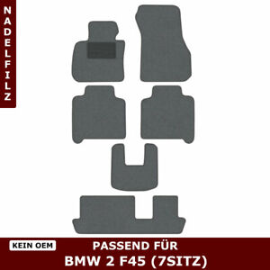 Automatten für BMW 2 F45 7sitz (ab 2013) - Grau Nadelfilz 4tlg