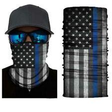 Fishing Face Mask Blue Line Flag Support Police Dept Cloth Neck Gaiter