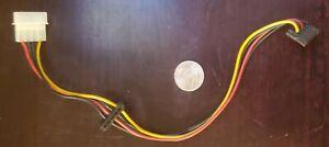 Molex to 2 SATA power adapter, 4 pin male molex to 2X 15 pin female SATA power