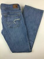 Women's American Eagle Kick Boot Stretch Jeans Light Wash Size 2 Short AE AEO