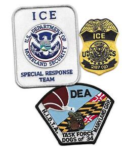 3 FEDERAL PATCHES -  DEA - 2 HSI PATCHES.. GREAT SET