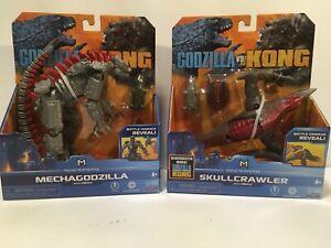 Playmates Godzilla vs KongFigure Lot Skullcrawler Mechagodzilla with Heav