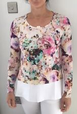 Designer Ladies Italian Jersey Top With Cotton Trim Size 18