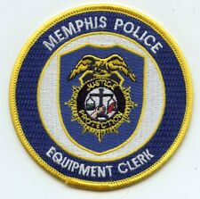 MEMPHIS TENNESSEE TN Equipment Clerk POLICE PATCH