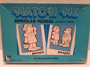 Vintage TREND Match Me Singular/Plural Activity Cards Speech Language T-333