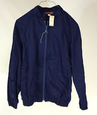 NOS Vintage 70s 80s Womans Bomber Jacket Navy Blue Lazarus Large