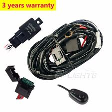 12V 40A LED Work Fog Light Bar Wiring Harness Kit ON/OFF Switch Relay Cable 10FT