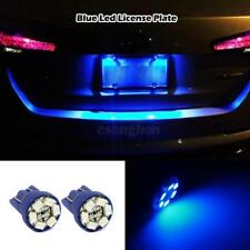 2x Blue LED License Plate Lights 6-SMD Bulb Wedge 168 T10 2825 194 W5W