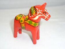Vtg Little Wood Dala Horse Scandinavian Mini Pony Mcm Swedish Mod Art Figurine