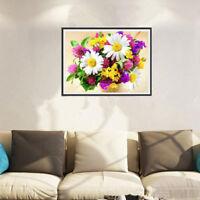 5D DIY Diamond Color Flowers Embroidery Cross Stitch Living Room Art Decor WE