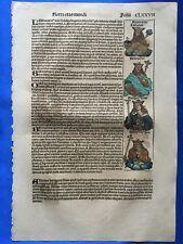 Altkoloriertes Blatt CLXXVII, Schedel Weltchronik 1493 Nürnberg HEILIGER WENTZEL