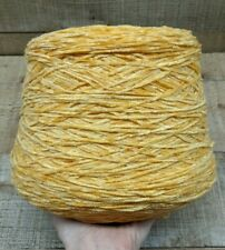 Winter Gold Yellow Quaker Acrylic Chenille Yarn 1500 Ypp *Save w/Combined Ship*