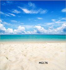 10X10FT Sunny Beach Vinyl Photography Backdrop Background Studio Props MG176