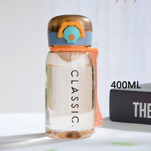 400ml Water Bottle Cup Plastic Creative Automatic Lid Portable Anti-scalding New