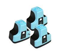 3 x LIGHT CYAN for HP02 Printers Photosmart C5180 C6180 C6280 C7180 D7160 D7260