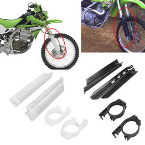 Front Fork Guides Fork Guards Cover Protector For Kawasaki KDX250 KDX200 KLX650