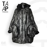 TAAP Wintermantel Designer Wende Jacke Chic Übergröße *Made in Germany Unikat