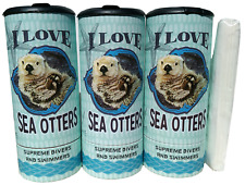 I Love Sea Otter(85025) Refillable Tissue Tube with 1 Refill package