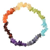 [1] CHARGED 7 Chakra Crystal Chip Stretchy Bracelet  REIKI Energy! ZENERGY GEMS™