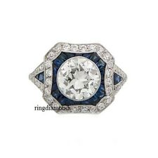 2.40 Ct Off White Moissanite Forever Bezel Engagement Ring 925 Sterling Silver