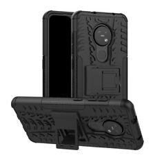 For Nokia 7.2 Hybrid Cover Case Rugged Armor Dual-Layer Shockproof Kickstand