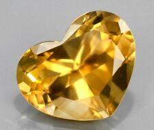 GOLDEN CITRINE 10 MM HEART CUT ALL NATURAL