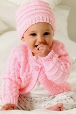 Baby TODDLER Knitting Pattern  CARDIGAN AND HAT in 8 Ply Includes PREMMIE size