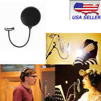 New Double Layer Studio Microphone Wind Screen Mask Gooseneck Shield Filter