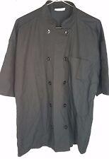 Uncommon Thread Delray Chef Coat 10 Button Mesh Back Short Sleeve size Lg L 0421