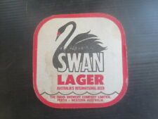 """1 only SWAN Brewery ,Swan Lager """"  """" 1970 Issue  BEER Coaster"""