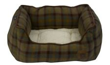 Petface Country Check Square Dog Cat Bed Reversible Anti Slip Cushion Basket