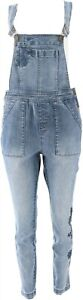 Motto Modern Denim Embroidered Overall Light Wash 2 NEW 649-775