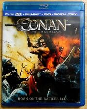 Conan the Barbarian 3D (3D Blu-ray, 2011, Digital Copy) *FREE SHIPPING USA ONLY*