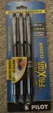 Pilot Frixion Retractable Erasable Clicker Black Gel Pen Ink 31464 Fine 07mm