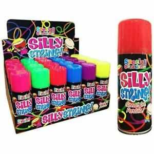 1 3 6 12 Silly String Spray Birthday Party Wedding Celebration Spray Can of 200m