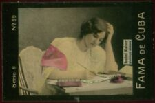 ISABEL KAISER TOBACCO CARD FAMA DE CUBA CIGARETTES VENEZUELA CIRCA 1910