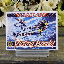 Ande Rooney / Enamel Kitchen Magnet / Back Them Up / Buy More Victory Bonds / P3
