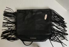 Victoria's Secret Black Backpack With Fringe