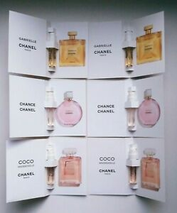 Chanel Chance Tendre + Coco Mademoiselle + Gabrielle Essence edp New Set of 6