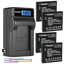 Kastar Battery LCD Wall Charger for DMW-BCK7E DMW-BCKPP & Lumix DMC-FH4 Camera