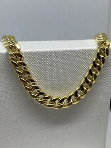 """Genuine 9ct Yellow Gold 6mm Chunky Mens Cuban Chain Necklace 24"""" New"""