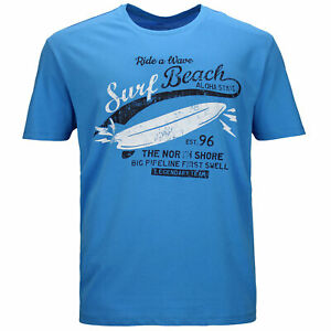 Kitaro T Shirt Übergröße T-Shirts Blau Große Größen 3XL 4XL 5XL 6XL 7XL 8XL NEU