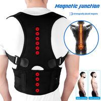 Adjustable Back Posture Corrector Magnetic Therapy Belt Brace Support Women Men